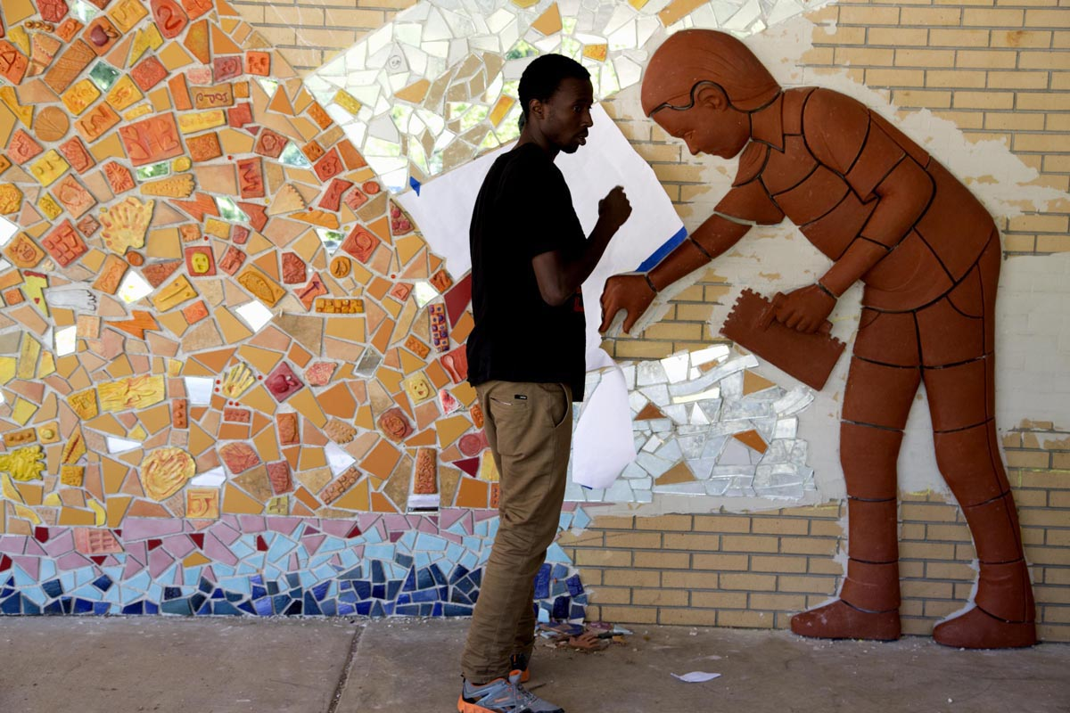 Hall fletcher elementary outdoor learning center for Asheville mural project
